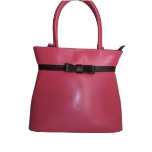 Tiffany & Fred Paris Pink w/ Brown Bow Satchel